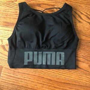 Black Puma sports bra size small